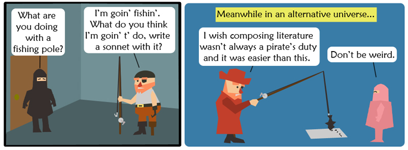 Fishing for a sonnet